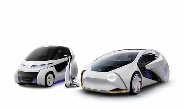 Los nuevos Toyota i-ride preparados para la Feria de Tokio